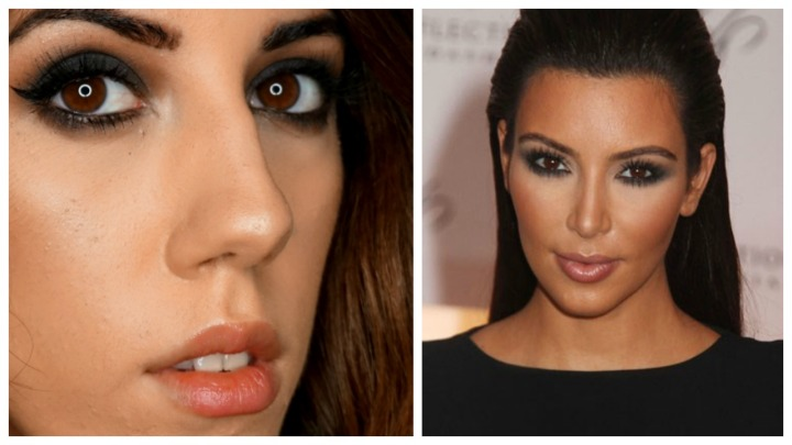 Consigue el look de : Kim Kardashian – Clásico ojoAhumado.